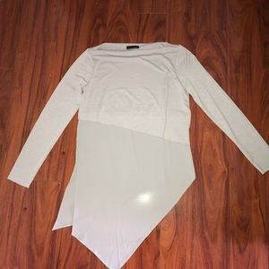 Zara long sleeve grey flowy top